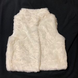 Carter's Furry Off-White Vest - 3T